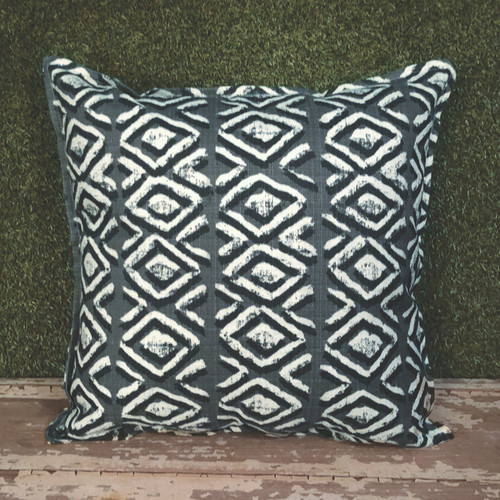 "GREY SAPO TOSS PILLOW 22"" SQUARE"