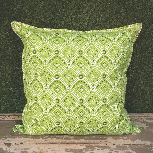 "GREEN KIPLING TOSS PILLOW 22"" SQUARE"