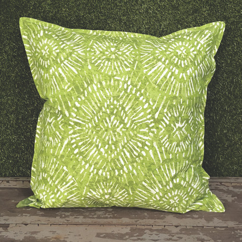 "GREEN BORNEO TOSS PILLOW 22"" SQUARE"