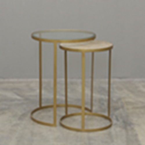 ROUND NESTING SIDE TABLE