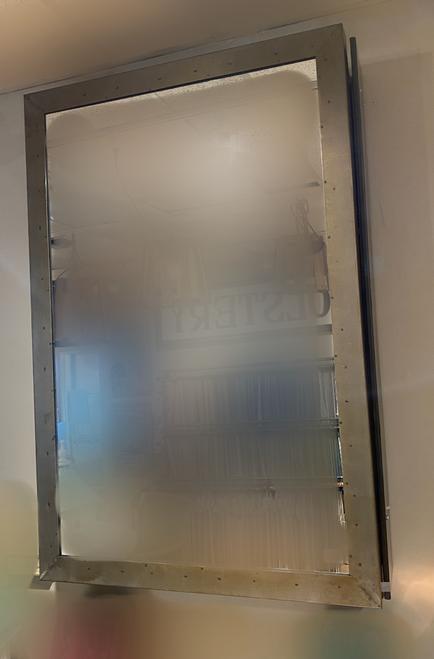 Mirror with hidden shelves behind 80% Off