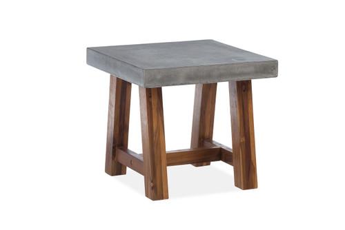 Bridge Side Table w/ Acacia Base