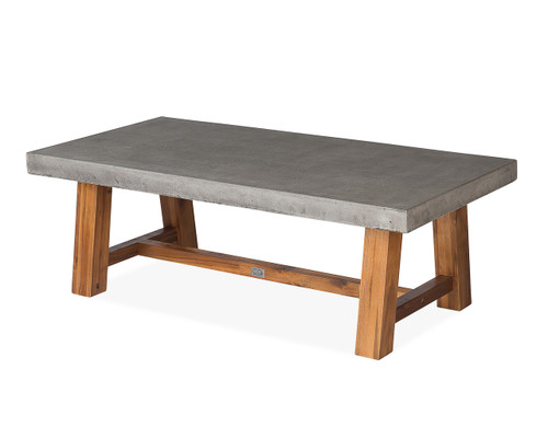 Bridge Rectangular Coffee Table w/ Acacia Base
