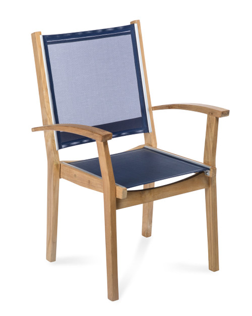 Bayhead Sling Stacking Armchair, Navy