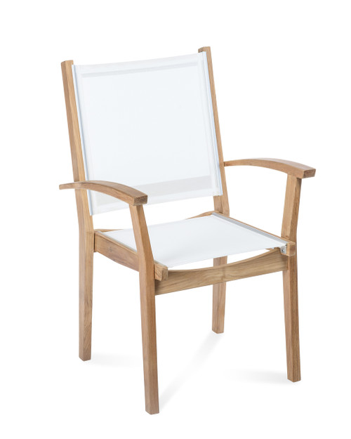 Bayhead Sling Stacking Armchair, White