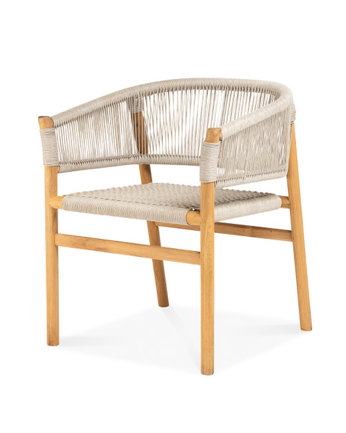 Ava Dining Arm Chair, Natural Wicker