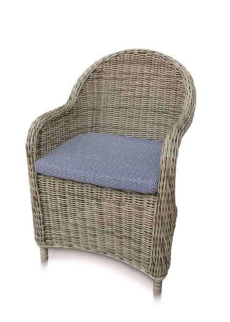 Julia Dining Chair w/ Sky Cushion - Set of 2