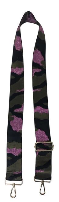 Army Camo w/Metallic Pink Adj Web Strap