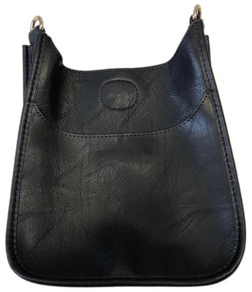 Black Mini Vegan Messenger Bag