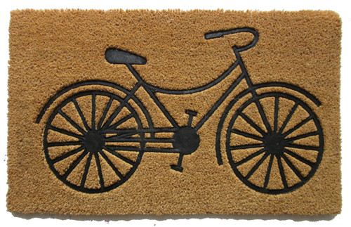 "BICYCLE 24""x36"" COIR DOOR MAT"