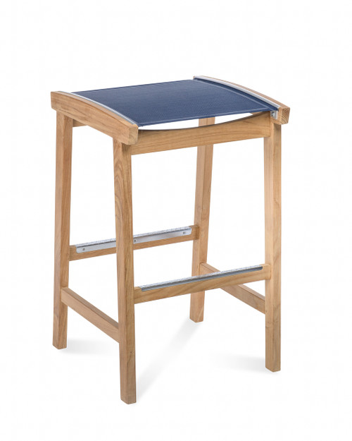 Bayhead Backless Sling Bar Stool, Navy
