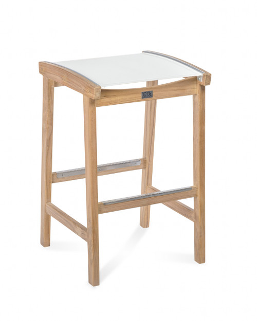 Bayhead Backless Sling Bar Stool, White
