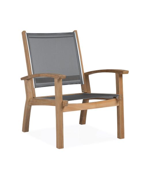Bayhead Sling Club Chair, Grey