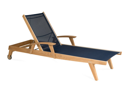 Bayhead Sling Chaise Lounge, Navy