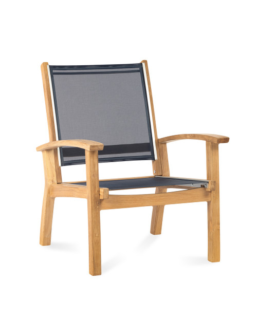 Bayhead Sling Club Chair, Navy