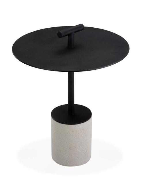 "Bayridge 18"" Side Table w/ Handle - Black"