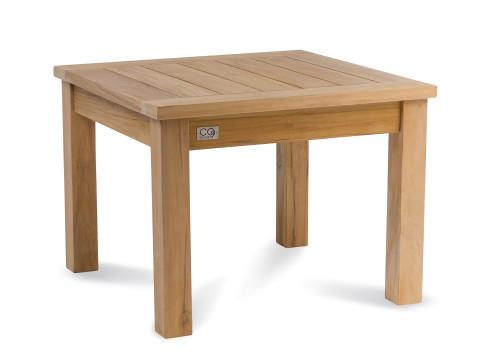 "Lakewood Essential 24"" Side Table, Natural Teak"