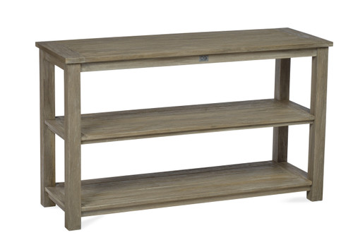 Lakewood Essential Console Table w/ Three Shelves, Grey Finish