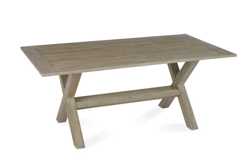 """Lakewood 72"""" Dining Table w/ Trestle Base, Grey Finish"""