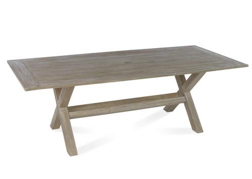 """Lakewood 90"""" Dining Table w/ Trestle Base, Grey Finish"""