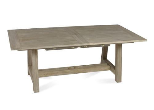 "Lakewood 118"" Extension Dining Table w/ Trestle Base, Grey Finish"