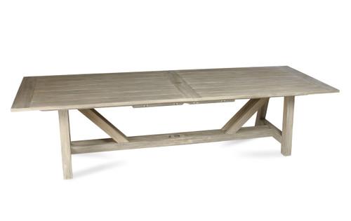 "Lakewood 160"" Extension Dining Table w/ Trestle Base, Grey Finish"