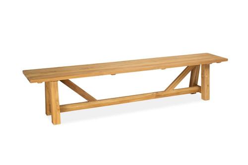 Lakewood 7' Backless Bench, Natural Teak