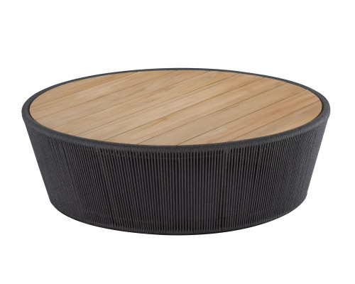 Lakewood Drum Coffee Table, Natural Finish