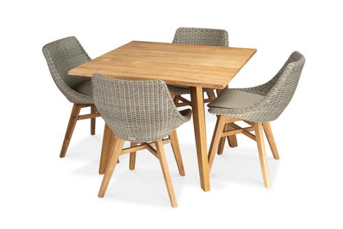 Verge Square 4 Seat Dining Set