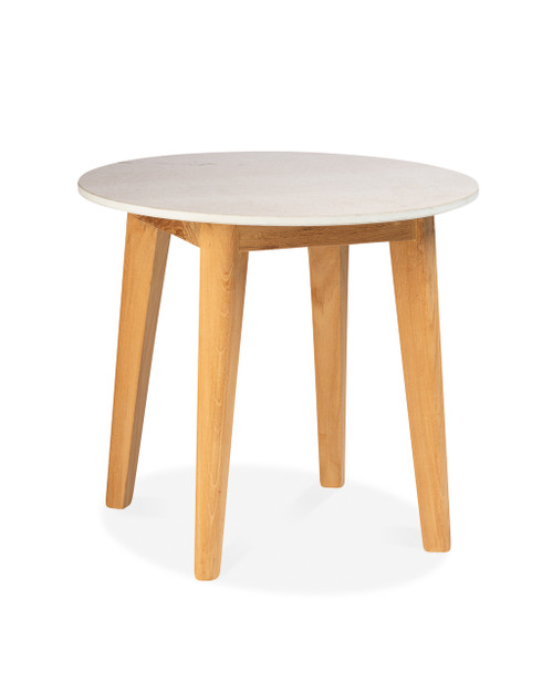 Essential Side Table with Round Ceramic Top