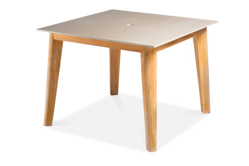 Essential Dining Table with Square Ceramic Top