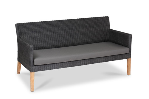 Cape Sofa, Slate Wicker w/ Smoke Cushion
