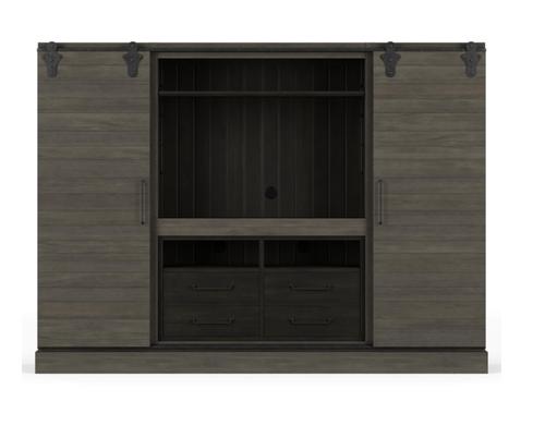 Sample Sale 70% OFF Sonoma Entertainment Cabinet - Dior Grey w Buckeye