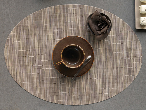 Bamboo Oval Table Mat 14x19.25 - DUNE