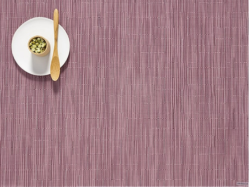Bamboo Table Mat 14x19 - RHUBARB