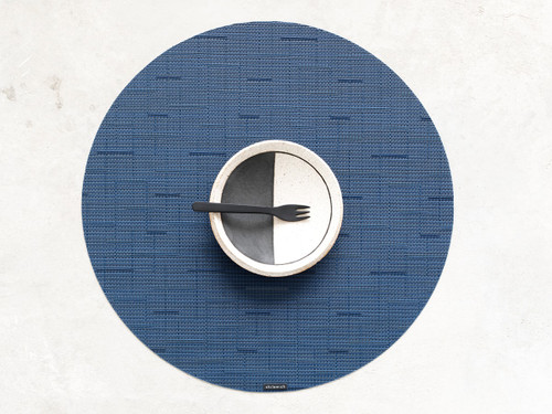"Bamboo Table Mat 15"" Round - LAPIS"