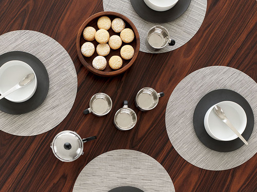"""Bamboo Table Mat 15"""" Round - CHALK"""