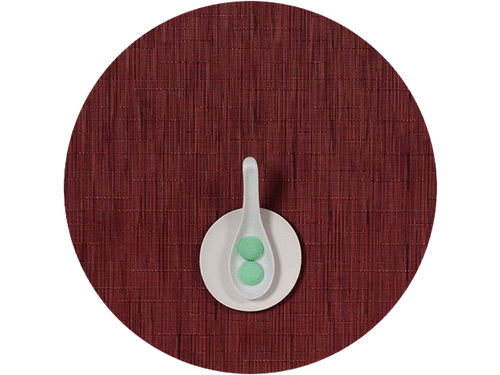 Bamboo Table Mat 15 Round - CRANBERRY