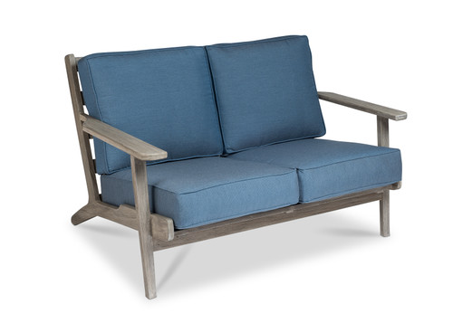 Dover Loveseat with Denim Cushions