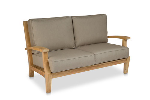 CO9 Design Newport Loveseat with Mushroom Cushions