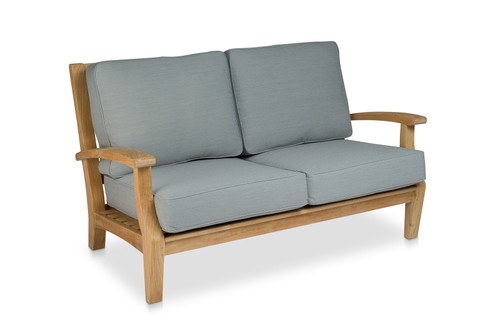 CO9 Design Newport Loveseat with Fossil Cushions
