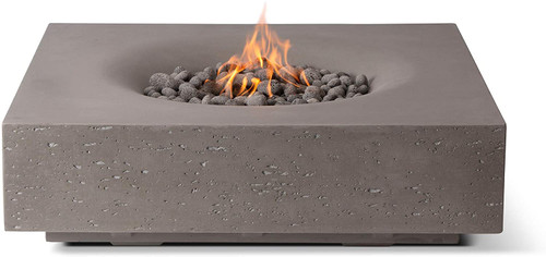 "60 % OFF Square  Fire Pit  41"" x 12""H - Slate (LP)"