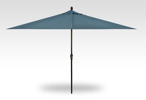 8' X 11' RECTANGULAR UMBRELLA, BLACK POLE - CAST LAGOON