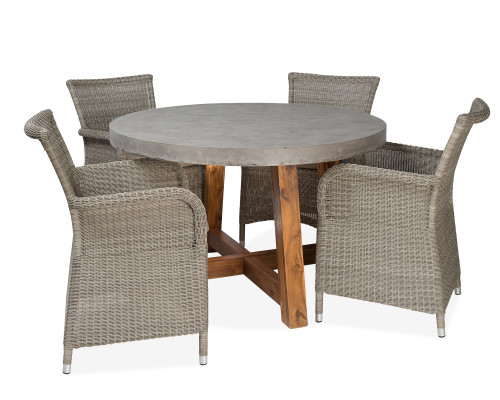 """CO9 Design Bridge 47"""" Round 4 Seat Dining Set"""