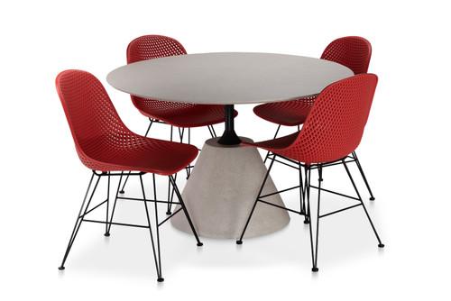 "CO9 Design Bayridge 47"" Madi Dining Set w/ Side Chairs"