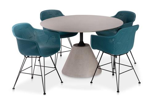 "CO9 Design Bayridge 47"" Madi Dining Set w/ Arm Chairs"