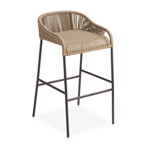 Belmont Bar Stool-Taupe