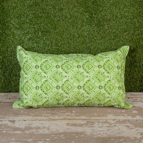 """Green Kipling Toss Pillow 12"""" x 22"""" Kidney"""