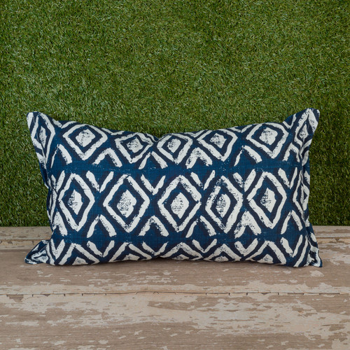 "Denim Sapo Toss Pillow 12"" x 22"" Kidney"