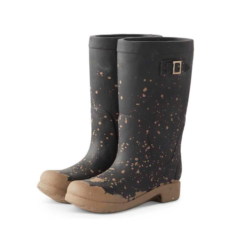 10 INCH RESIN PAIR OF RAINBOOTS